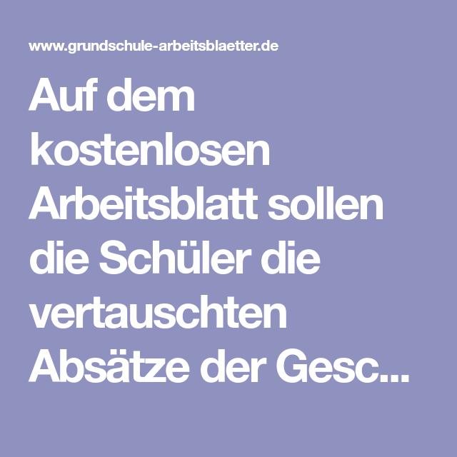 Arbeitsblatt: Absätze sortieren: Der Urlaub | Deutsch | Pinterest ...