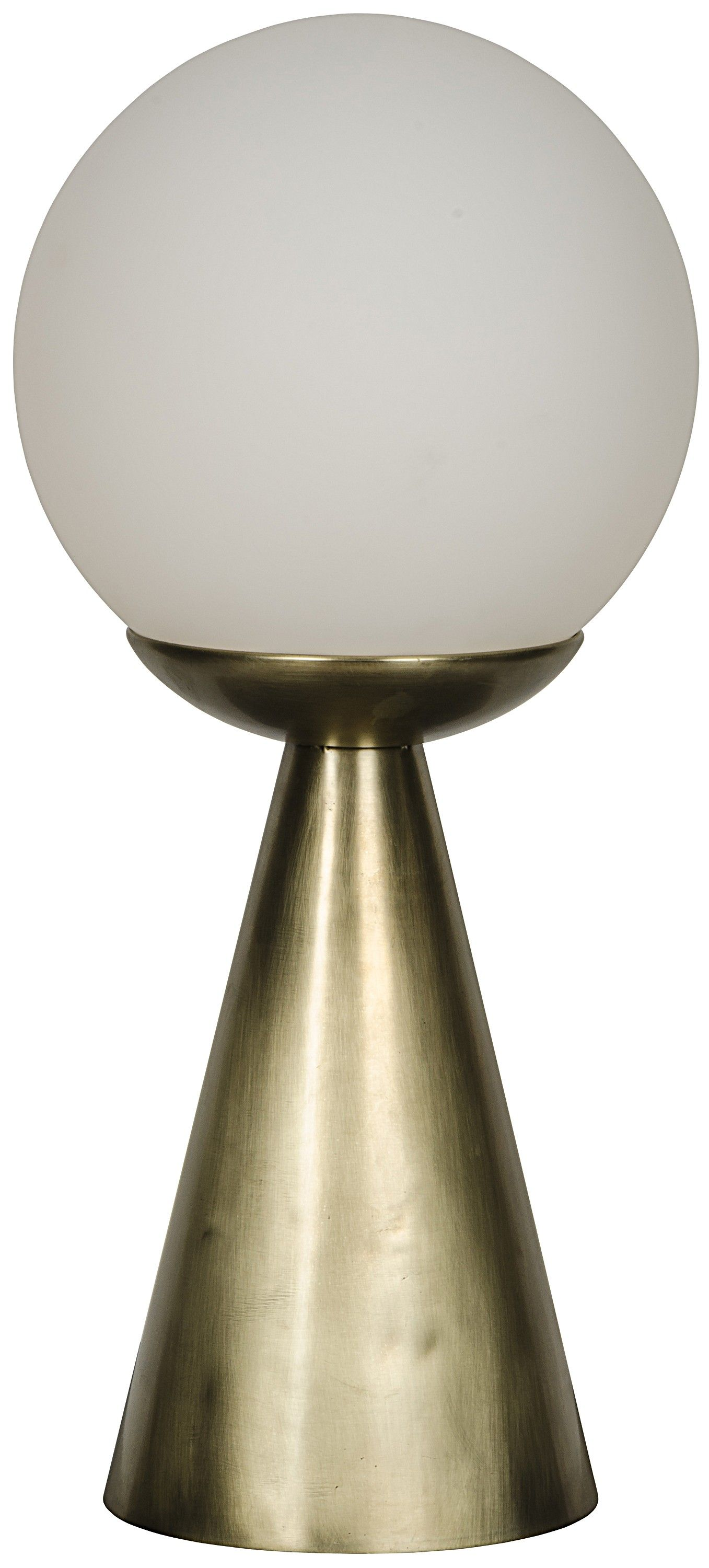 Ditch Your Boring Lamp And Replace It With This Sleek And Stylish Update The Gleaming Glass Orb And Antique Brass Finish Will Lamp Table Lamp Glass Table Lamp