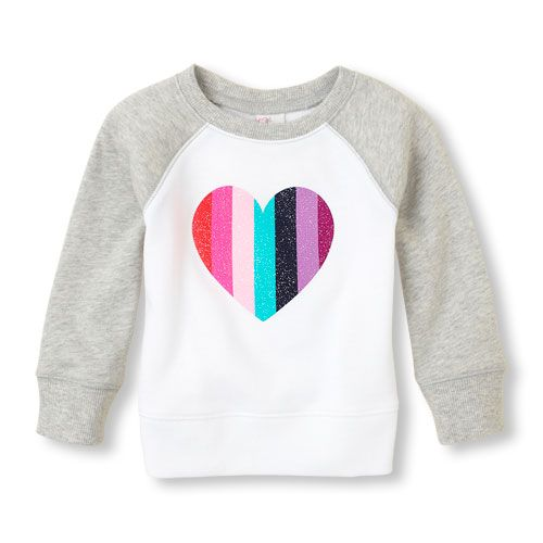 This sweatshirt has it all: tie-dye, sequins, studs and sugar glitter just the way she likes it!