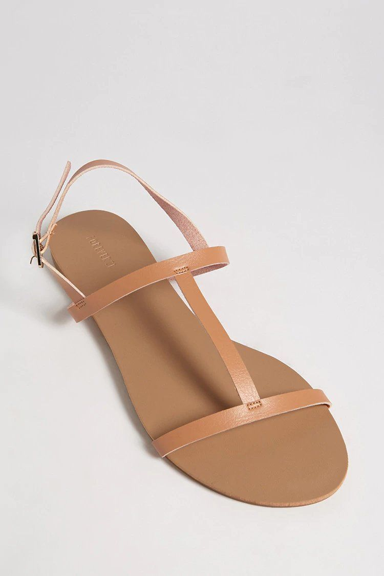 38bbe11cc Product Name Faux Leather T-Strap Sandals