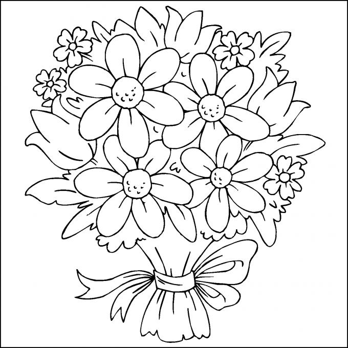 Hermosos Ramos De Flores Para Colorear Faciles Imagenes De Flores Hermos Paginas Para Colorear De Flores Patrones De Bordado Paginas Para Colorear Para Ninos