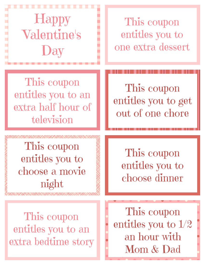 this free printable valentine coupon book is a fun and easy and sugar free way to treat your kids on valentines day