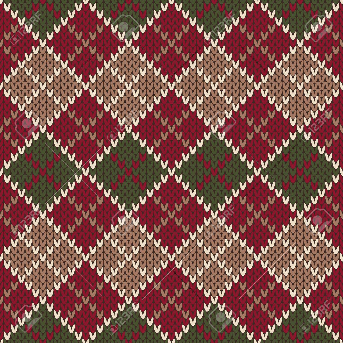 Traditional Christmas Sweater Entwurf. Nahtlose Argyle Strickmuster ...