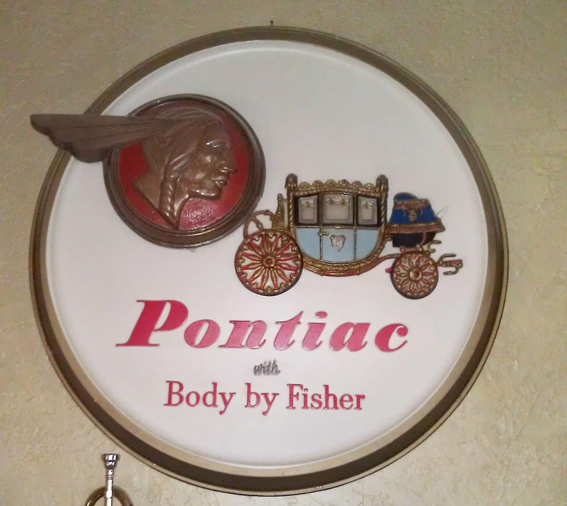 Vintage Pontiac Dealership: Sign From A Pontiac Dealer In The 1940s