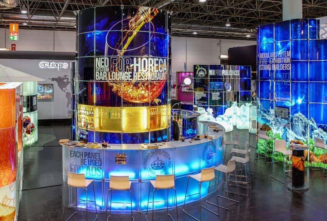 Exhibition Stand Bar : Modular exhibition stand builders bar