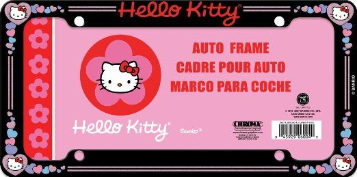 c9a919753 Hello Kitty Glitter License Plate Frame (Made of Plastic) | AMAZON ...