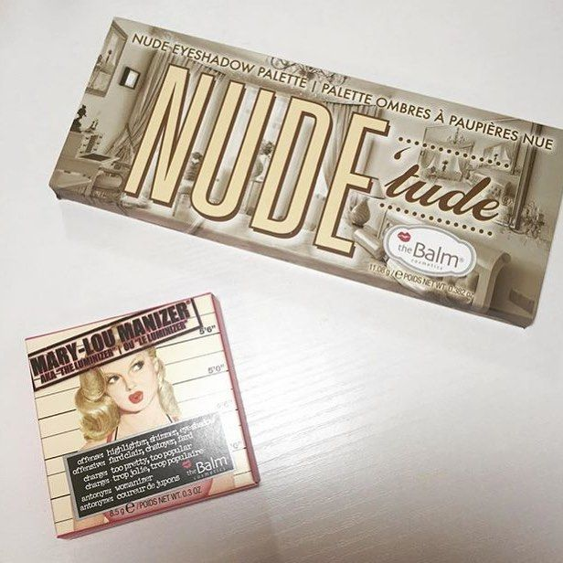 GIVEAWAY TIME! Win the @thebalm_cosmetics Nude Tude Palette & Mary Lou-Manizer highlight!  @makingupashlee and I did the 5 minute makeup challenge, link to my channel/giveaway in bio!!