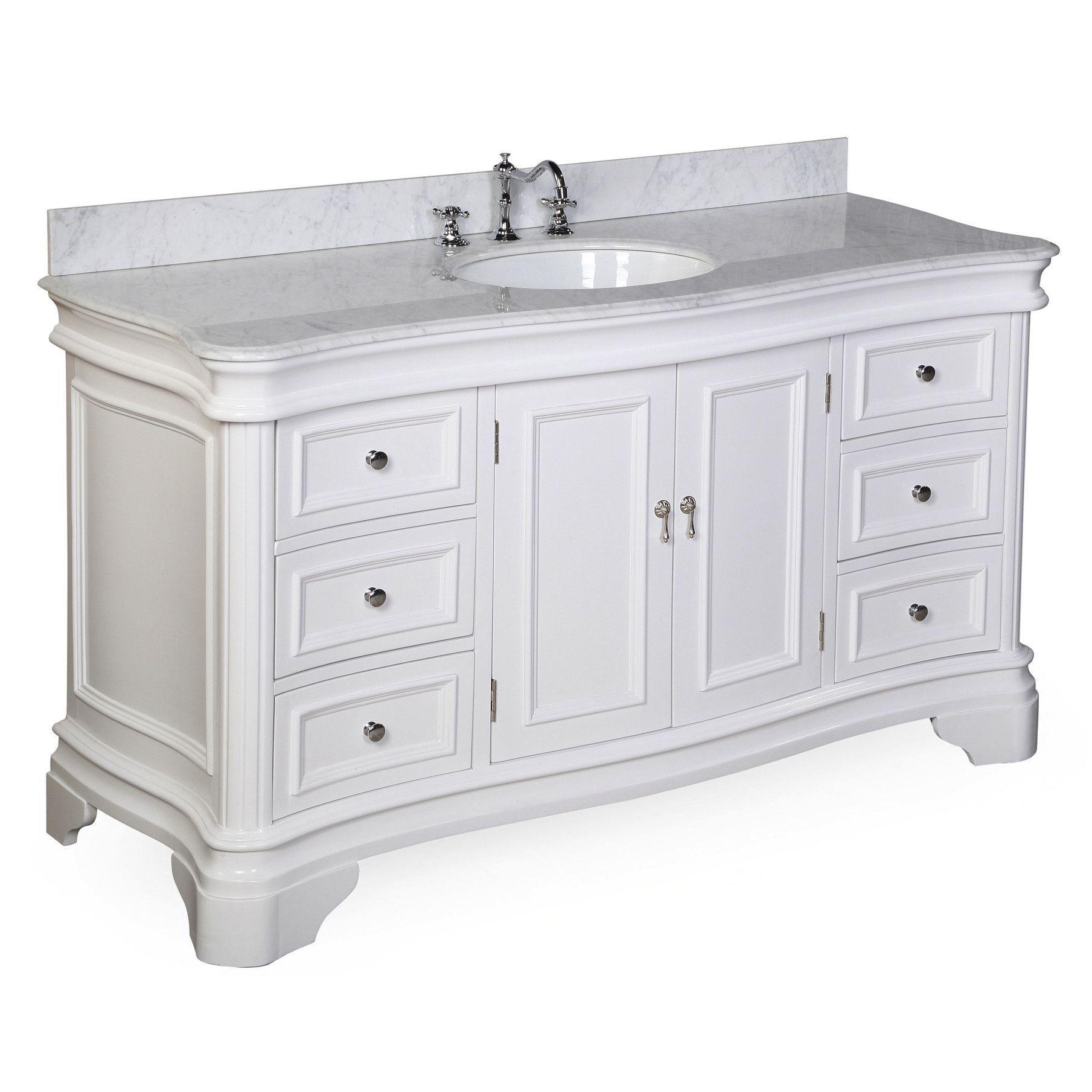 Kbc Katherine 60 Single Sink Bathroom Vanity Set Single Bathroom Vanity Kitchen Bath Collection Bathroom Vanity