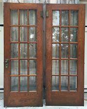 Antique Beveled Glass Solid Oak French Door Pair Architectural Salvage 80x30 & Antique Beveled Glass Solid Oak French Door Pair Architectural ... Pezcame.Com