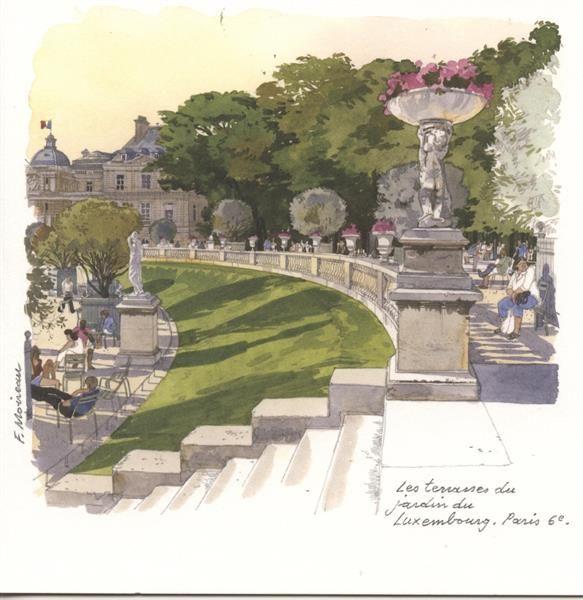 Jardin du luxembourg fabrice moireau carnets for Croquis jardin