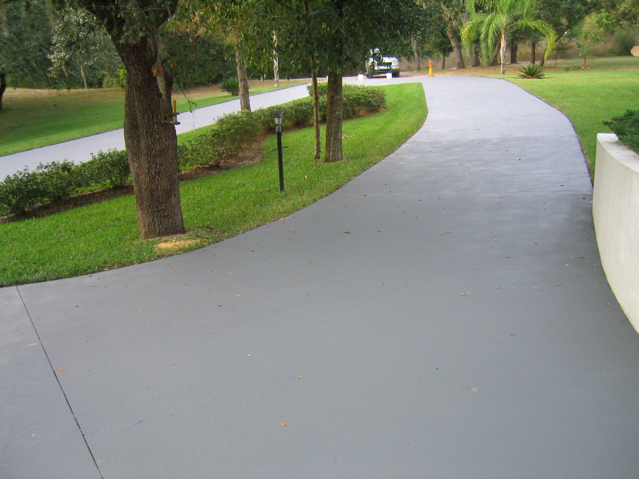 Epoxy seal concrete garage floor paint driveways for New concrete driveway