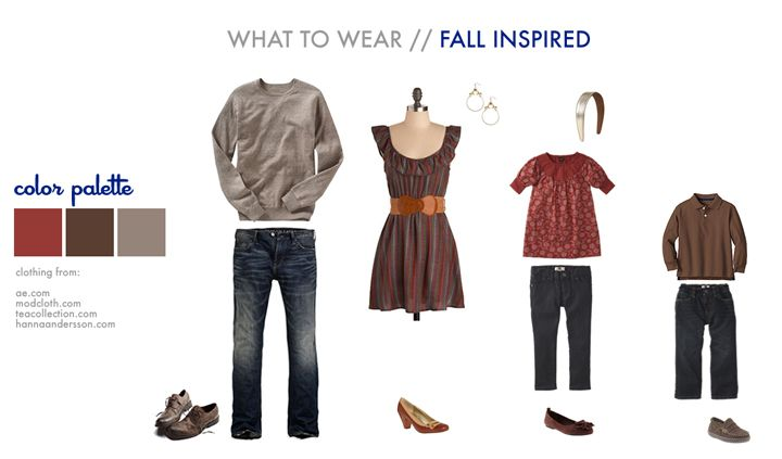 Autumn Inspired Outfits for your family photos!