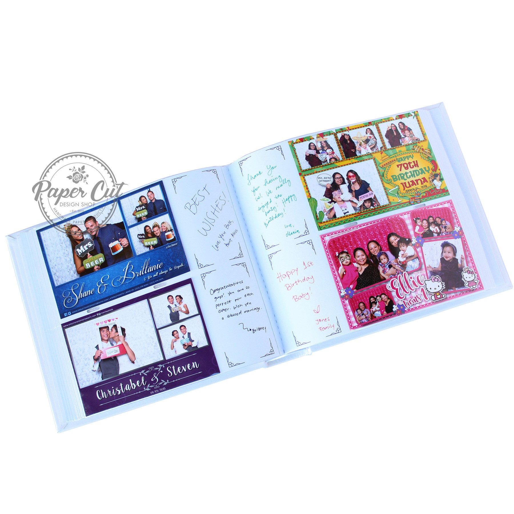 Photo Booth Guest Book Album Slipin BOX Included Wedding