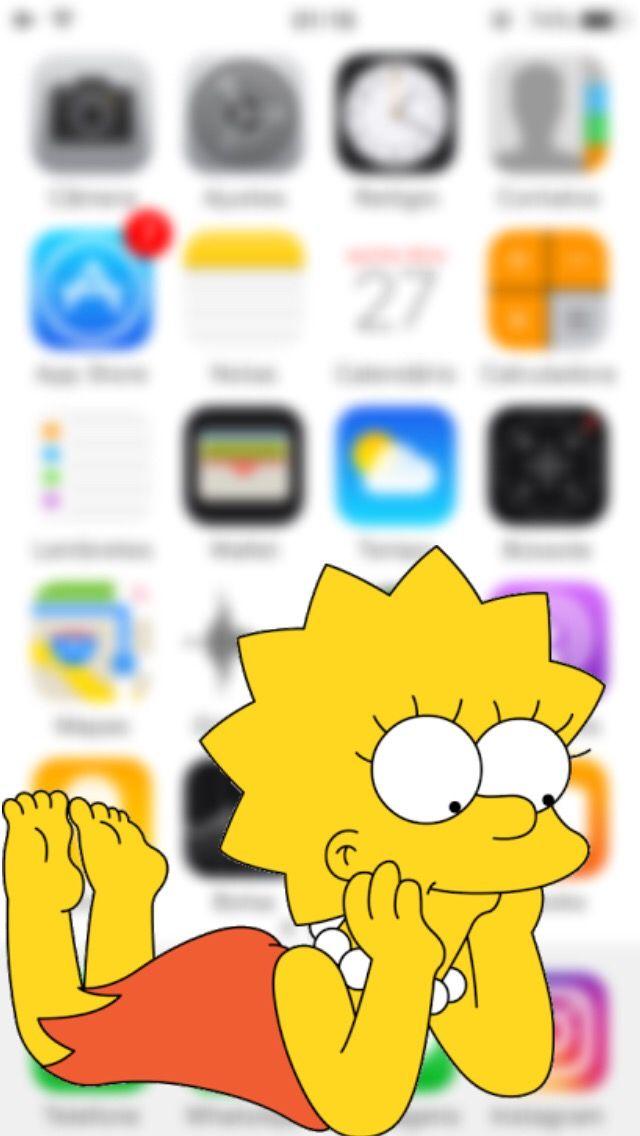 Lisa Simpson The Simpsons Phone Wallpaper Background Lock