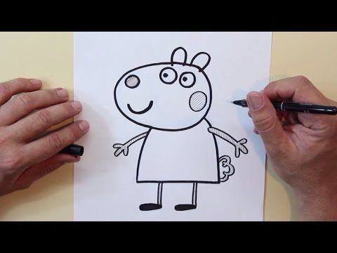 Cómo Dibujar A Susie Oveja Peppa Pig How To Draw Susie