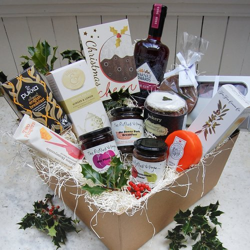 CHRISTMAS CHEER   deluxe hamper — The Pickled Shop - What could bring a sense of Christmas cheer better than a whopping great box of goodies handpicked to get you in a jolly festive mood.   #christmas #christmasgifts #christmasgiftsforher #christmasgiftsforhim #christmaslove #xmas #xmasgifts #christmaspresents #christmashamper #hamper #giftbox #pickles #preserves #cheese #cheeselover #cheeseandbiscuits #cheeseboard #giftsforher #giftsforhim #gifts #thoughtfulgifts #christmasjoy #sloegin