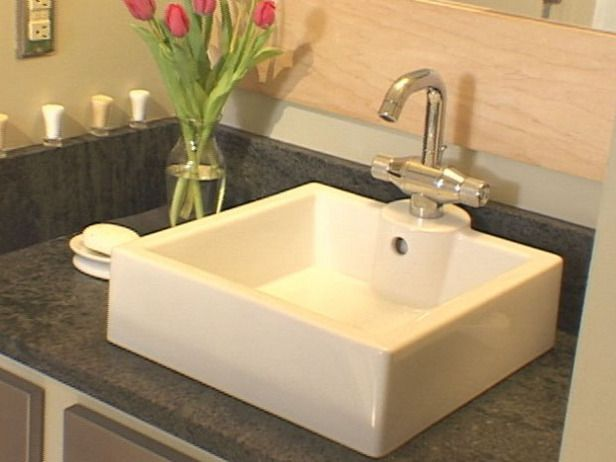 How to Install a Bathroom Countertop and Vessel Sink Vessel sink