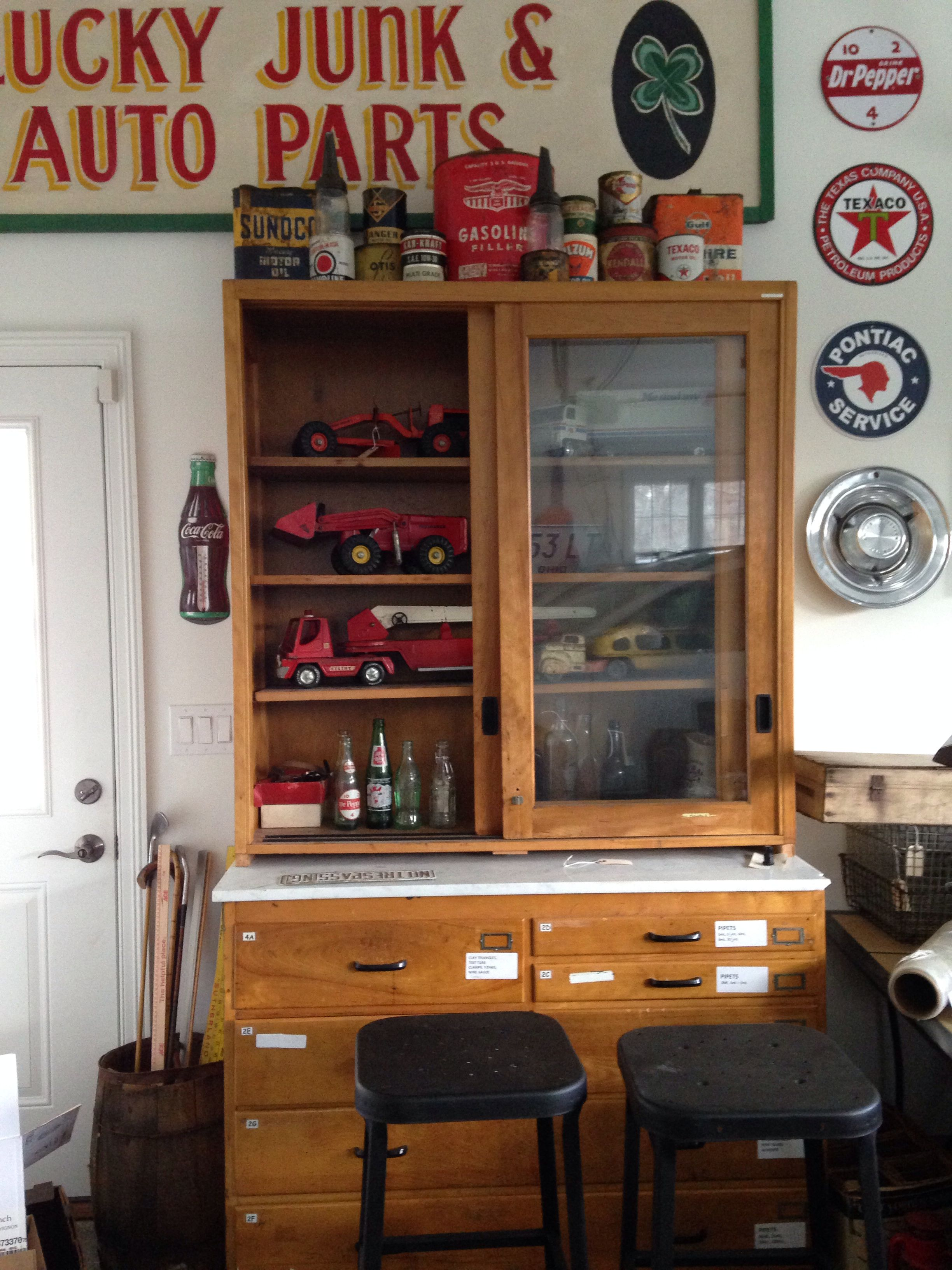 Vintage science cabinet is great for matiques industrial home