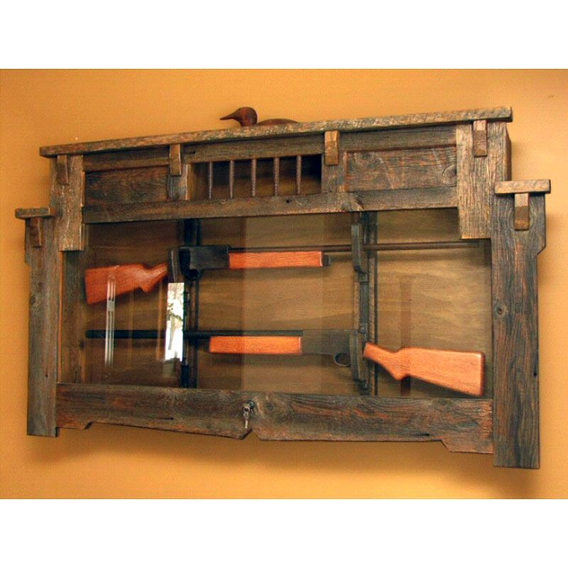 Hunter 39 s retreat gun display cabinet saddleback western for Homemade rack case