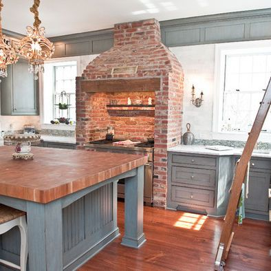 Nice Mix Of Color And Texture This Chimney Hood Is