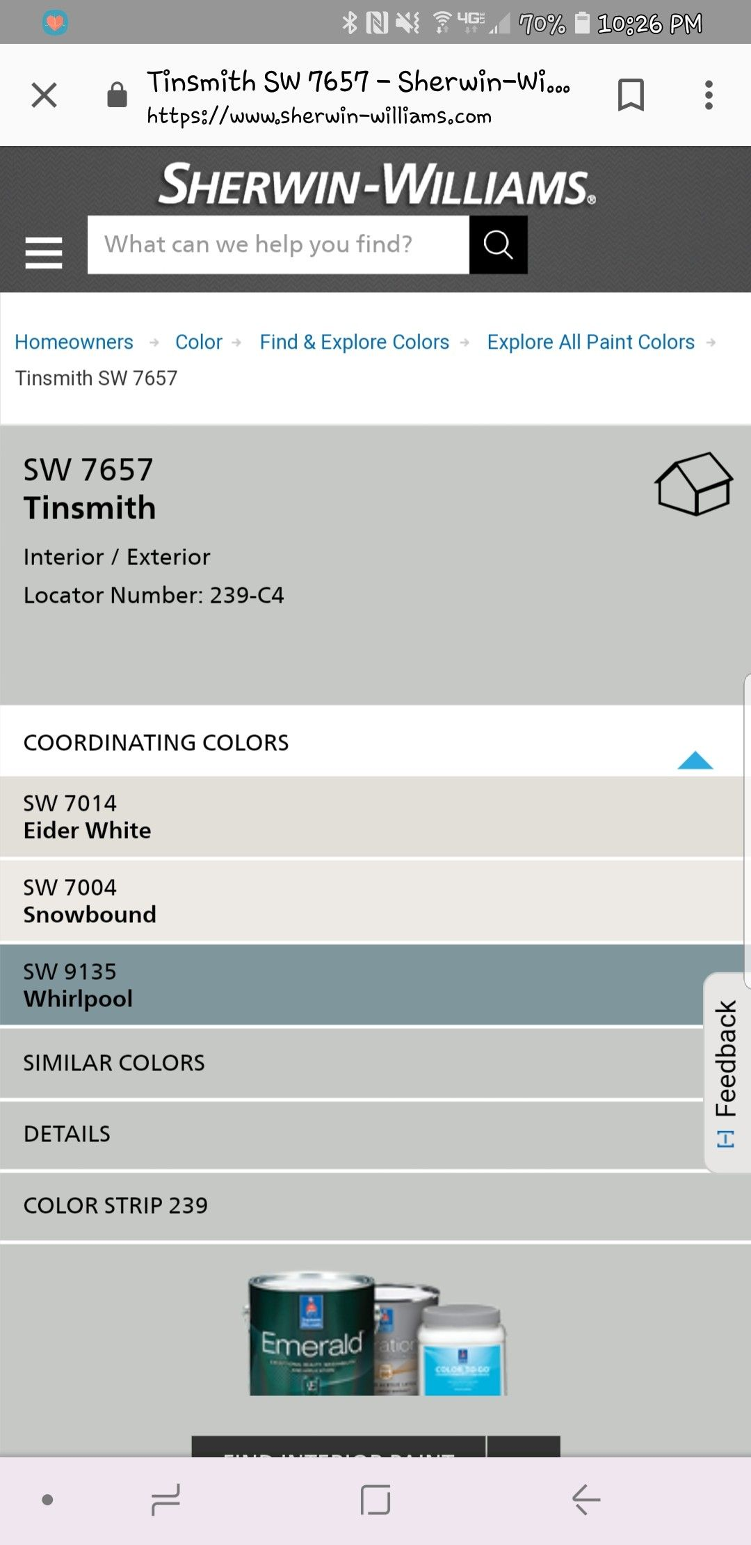 Tinsmith Paint Color Sherwin Williams Paint Colors For Home Interior Wall Colors Paint Colors
