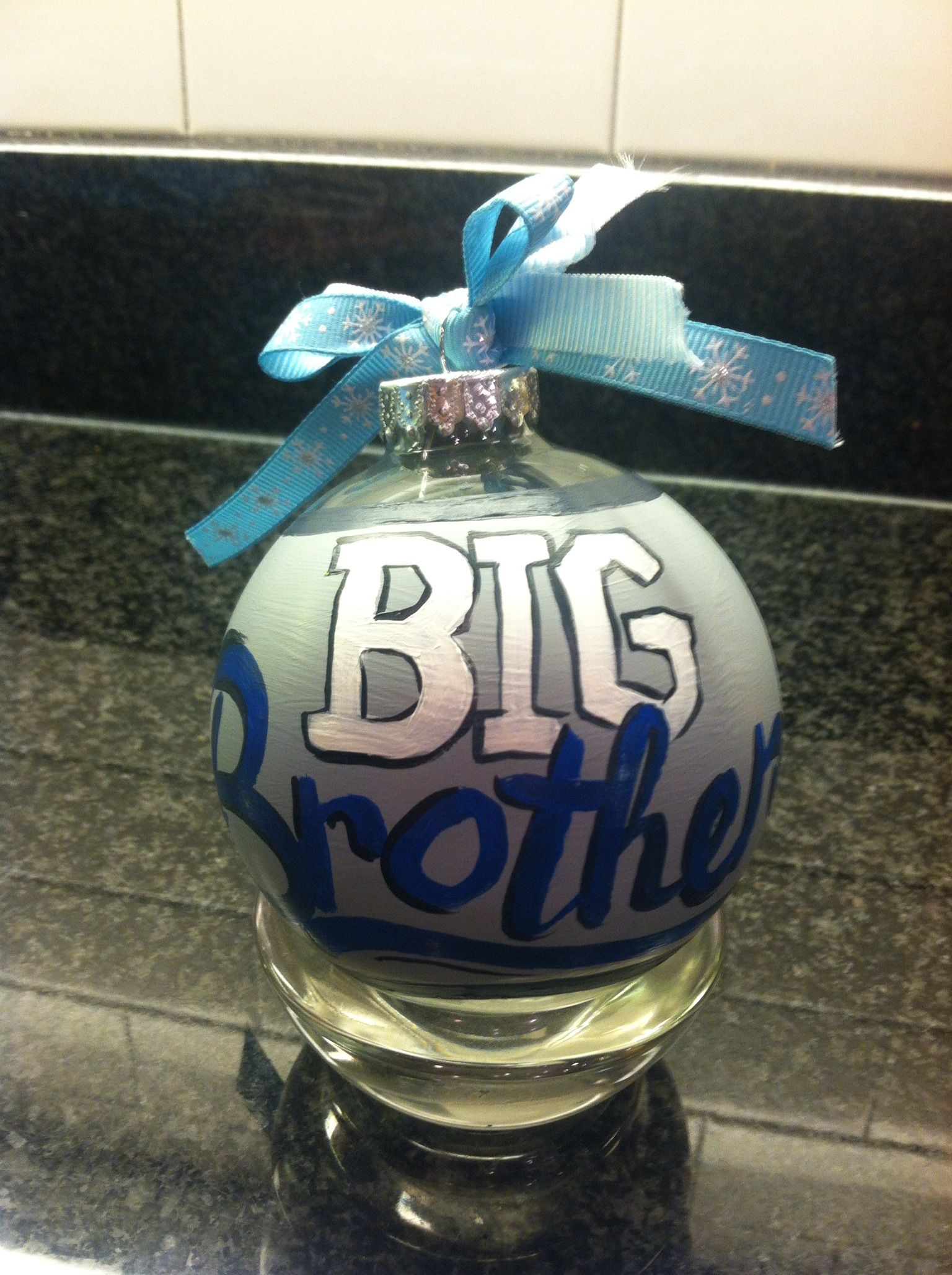 Big Brother Ornament Perfect For Sibling New Baby T