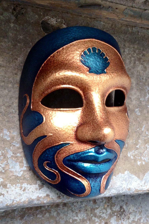 Maschera viso unico polpo