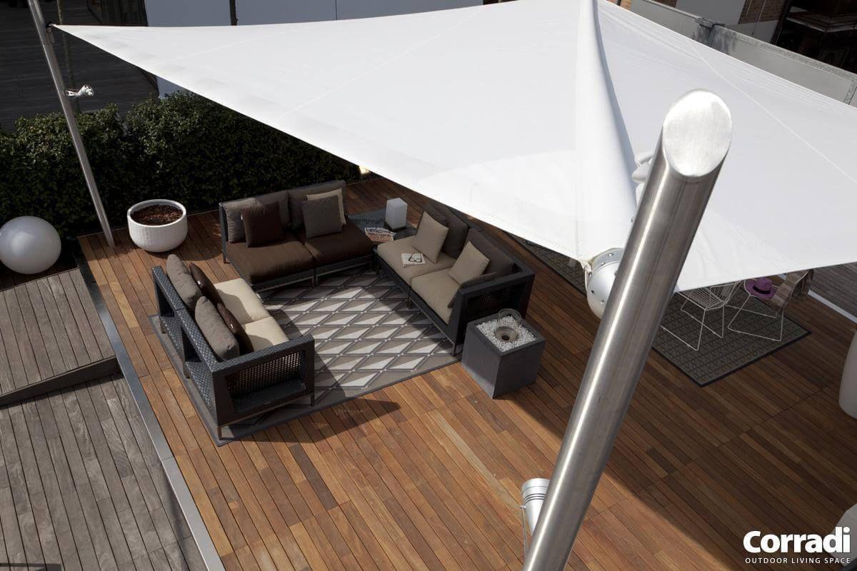 Coberti toldos vela de sombra para terrazas y jardines for Toldos velas para terrazas