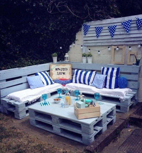 Pallet Garden Nautical Furniture Set And Sign • 1001 Pallets