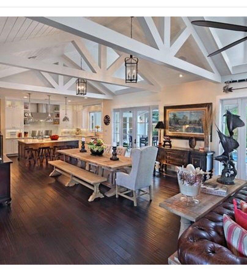House Open Floor Plan Colors Home Kitchen Living Kitchen Floor Plans