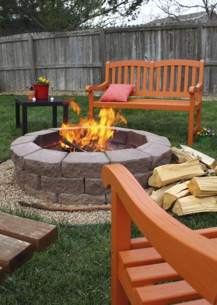 Garten Gestaltung Feuerstelle Gartenmöbel Gartenbereiche Gartendeko Ideen
