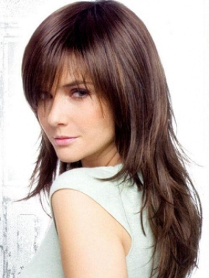 Side Fringe Bangs Hairstyles Hair Styles Long Thin Hair Thin Hair Haircuts