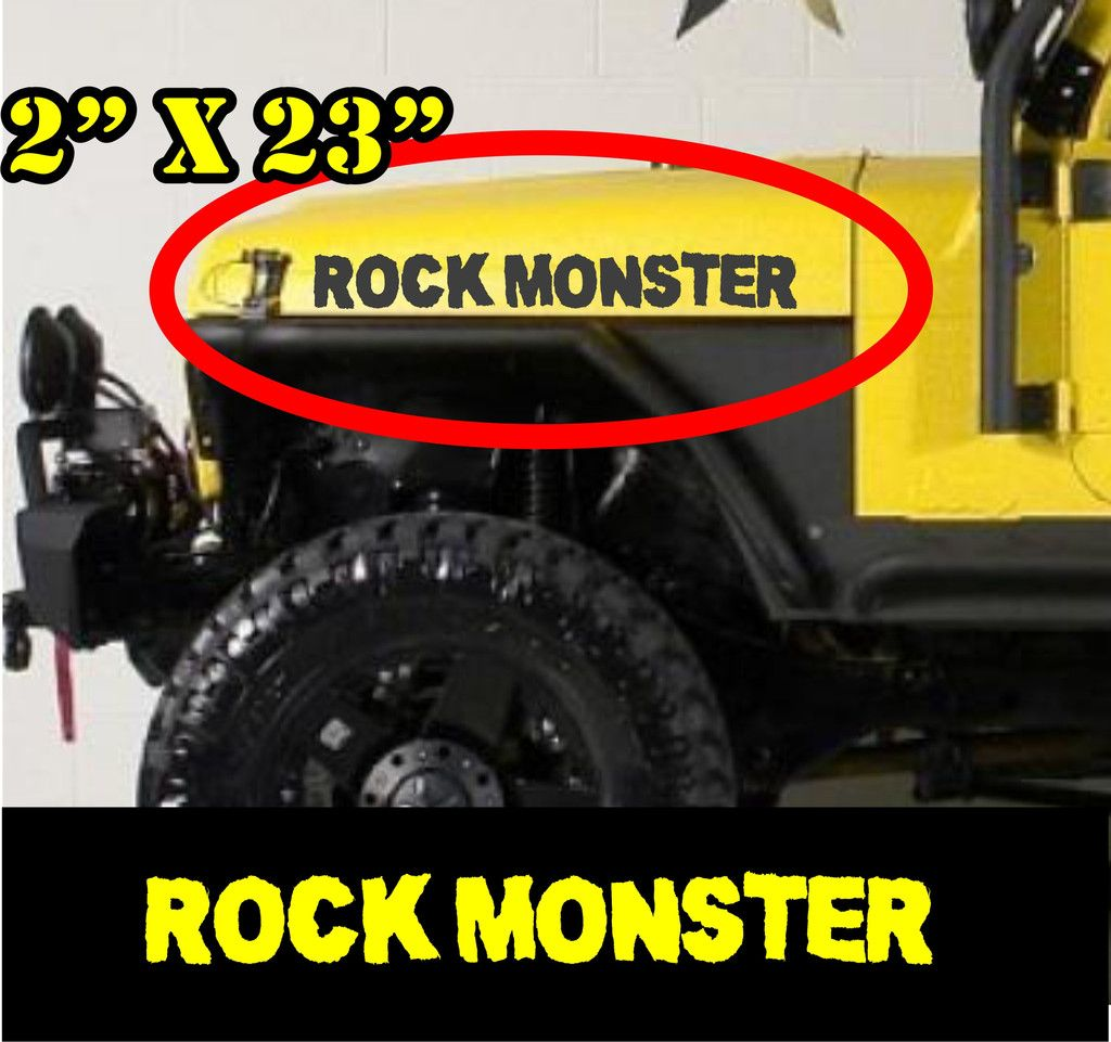 Rock Monster Hood Decals For Jeep Off Road Adventure Jeep Offroad