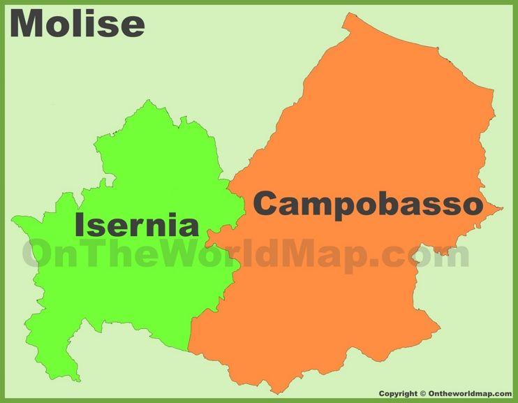 Molise provinces map