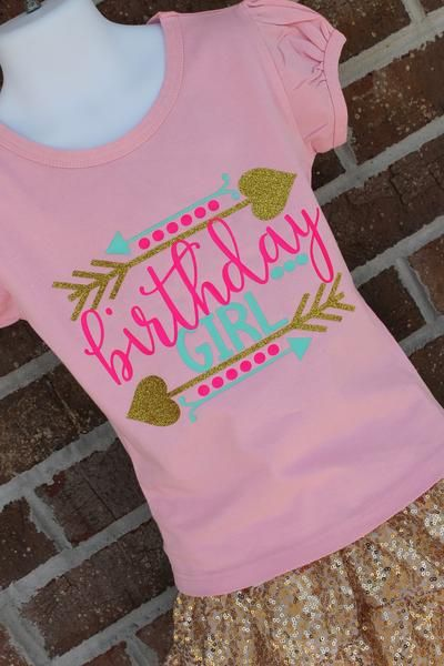 4e386997b233b Birthday Girl glitter birthday shirt - fancy boutique girls shirt ...
