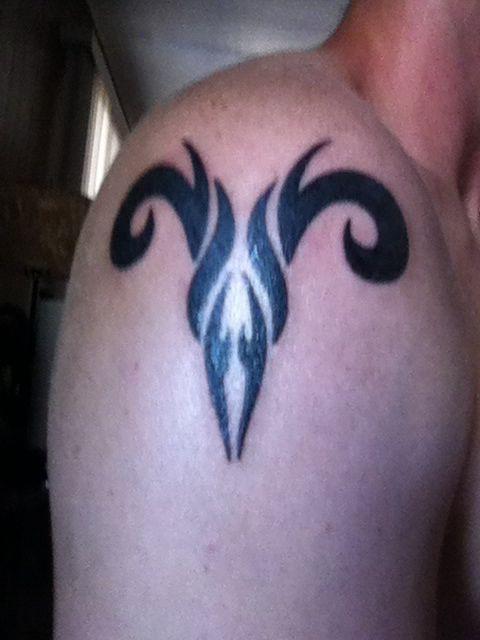 Tribal Aries Symbol Tattoo My First One Tattoo Ideas