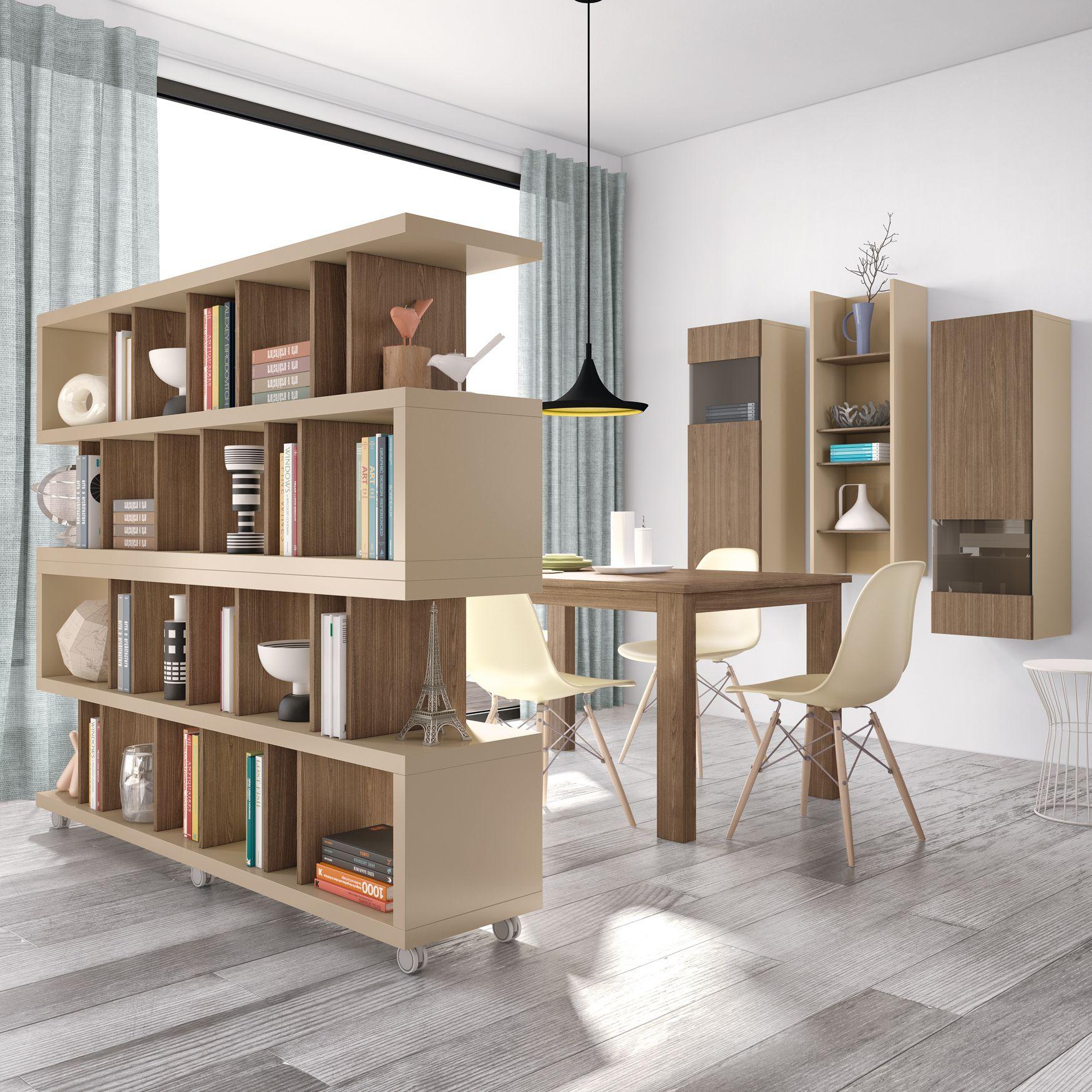 Separadores De Ambiente Biblioteca Con Ruedas Mueble Separador  # Muebles Divisorios