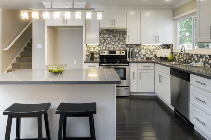 9 Brilliant Room Divider Ideas For Your Small Studio Apartment And Beyond L Shape Kitchen Layout Modern L Shaped Kitchens Kitchen Designs Layout