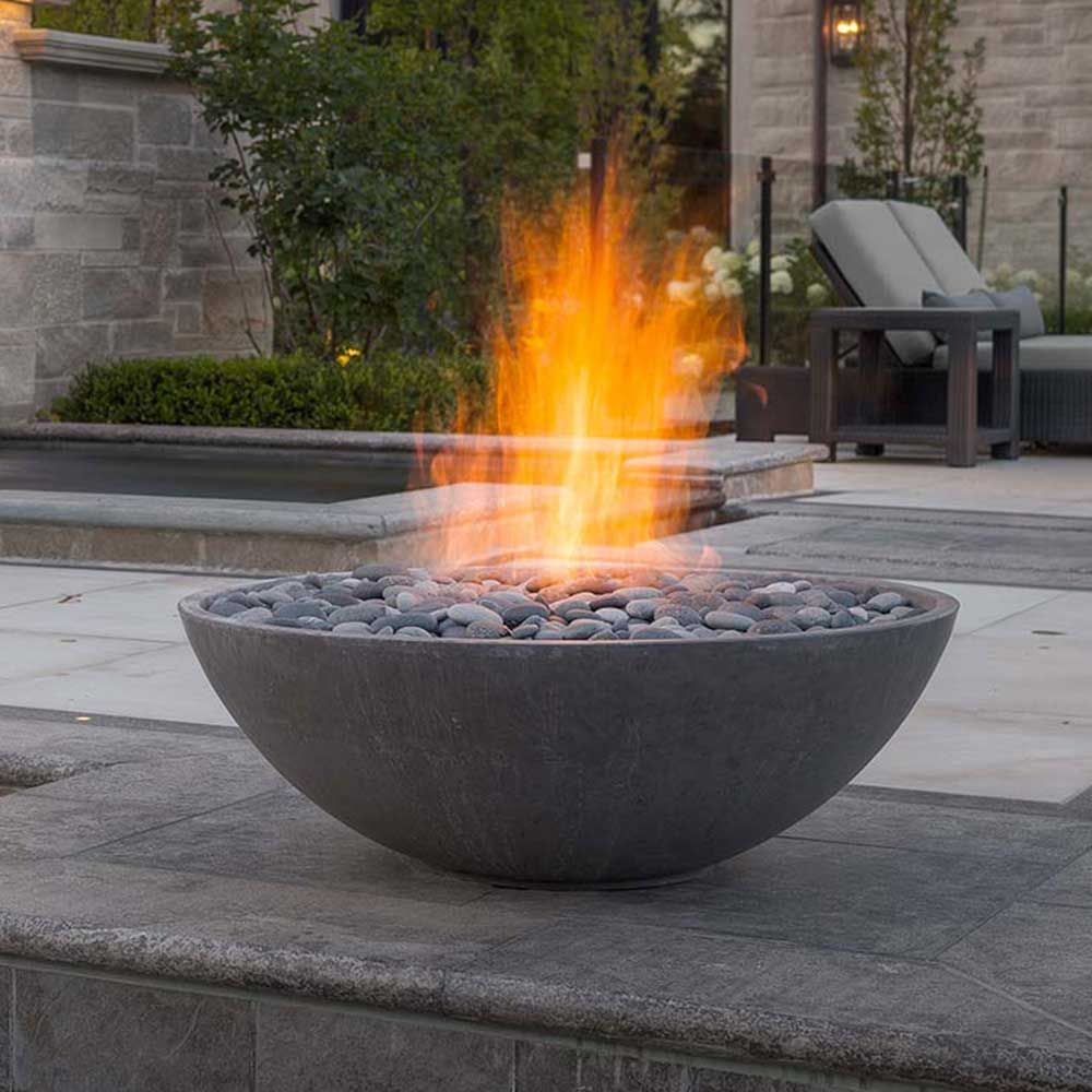 Miso 36 Concrete Modern Fire Pit Charcoal Usa Canada Uk Europe Garden Fire Pit Fire Pit Materials Fire Pit Backyard Contemporary outdoor gas fire pits uk