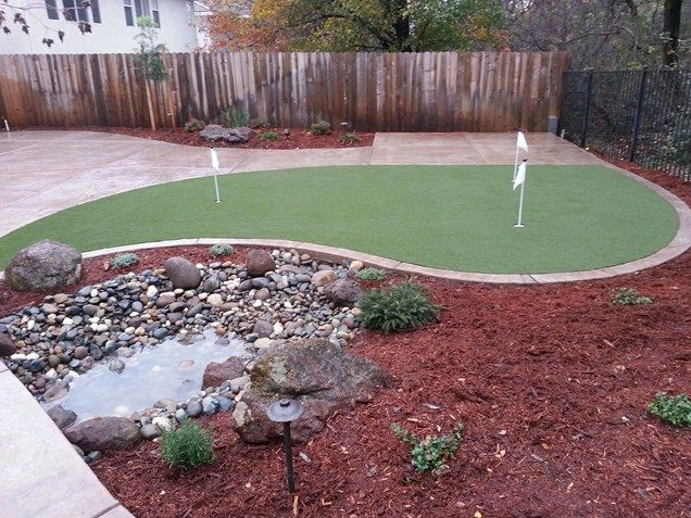 Small Backyard With Putting Green Small Yard Landscaping River City  Landscaping, Inc. Roseville, CA - Small Backyard With Putting Green Small Yard Landscaping River City