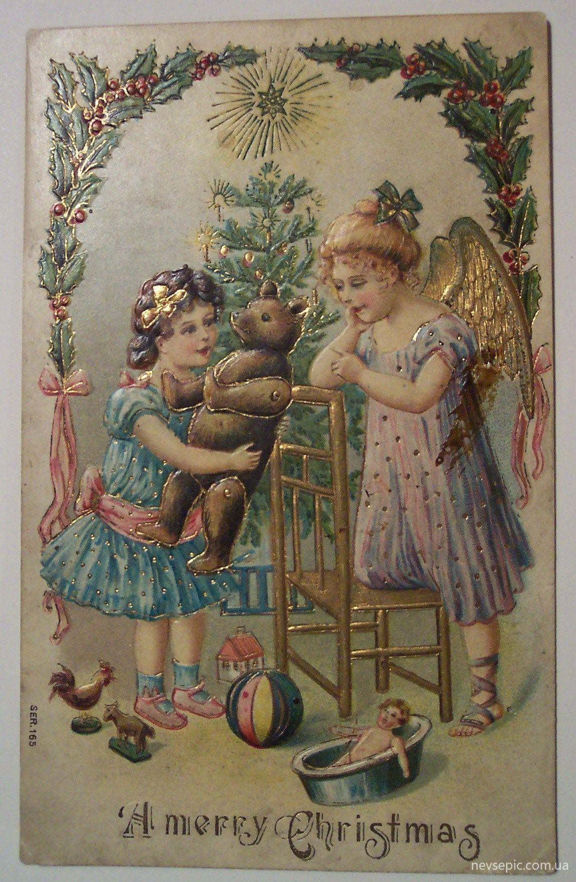 Рождество открытки иностранные