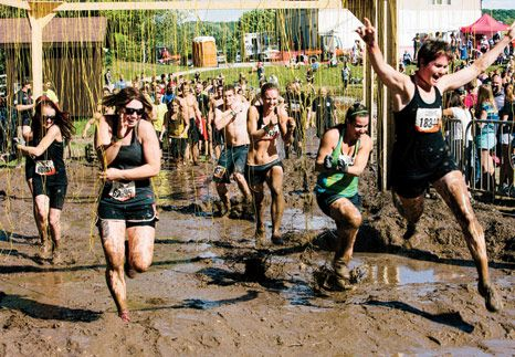 My tips for what you need to know before you do a mud run; @Michelle Flynn Sinclair  The tight clothes thing is a must! Would've helped a lot in my first mud run!