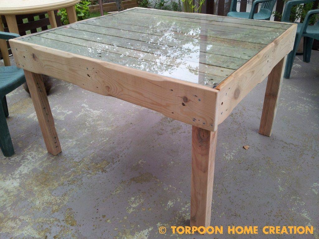 Table salon de jardin Instructions de montage... | Créations ...