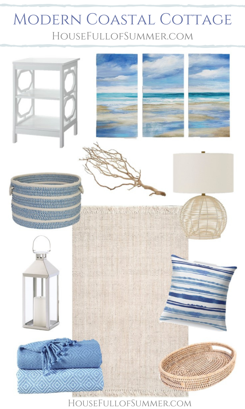 Tips for Decorating in Modern Coastal Cottage Style — House Full of Summer - Coastal Home & Lifestyle