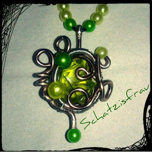 Schmuck, anhänger, draht, wire wrapping, pearl | Meine Projekte ...