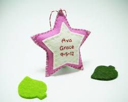 Babys First Christmas Ornament Crafts Felt Google Search