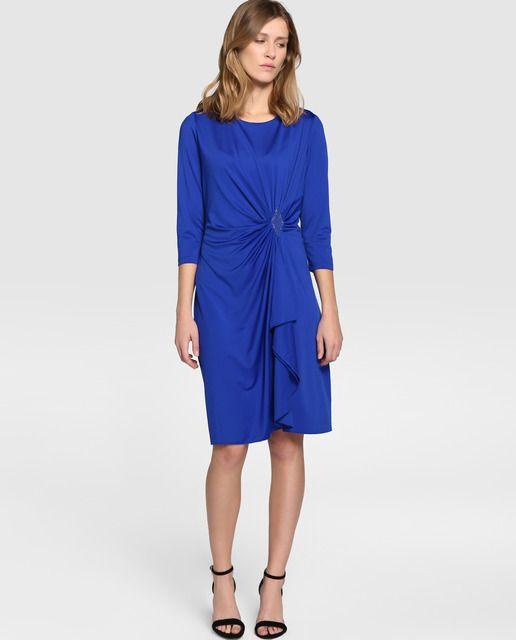 Vestido azul antea el corte ingles