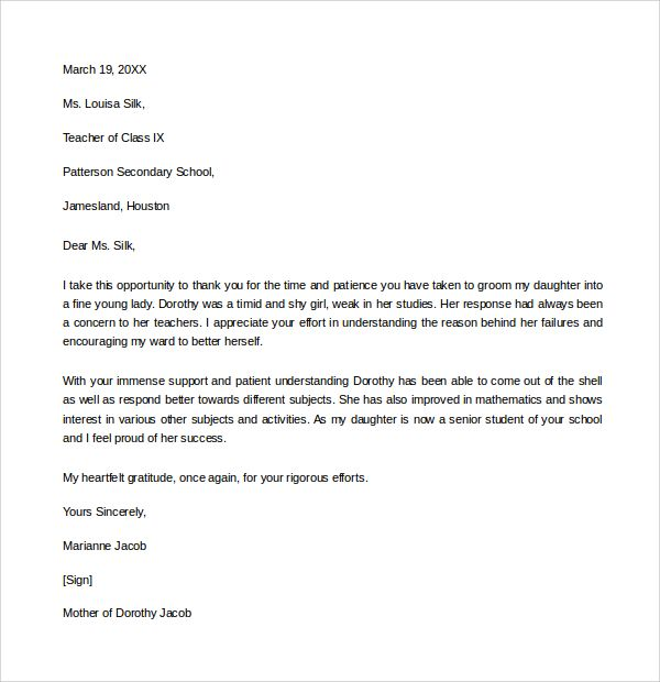 sample thank you letter example download free documents pdf - threat assessment template