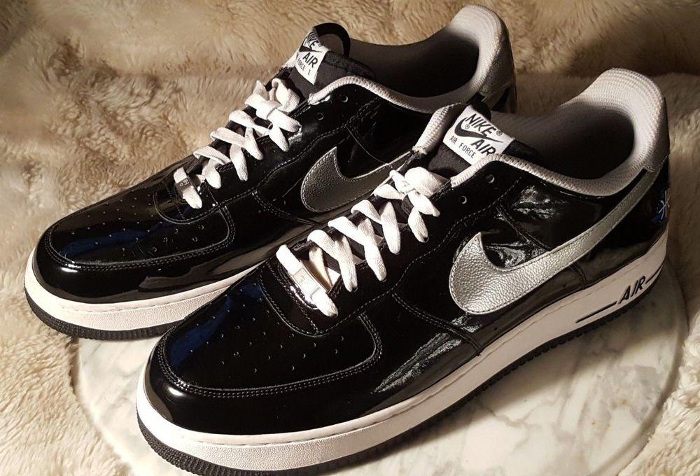 Details about Nike Air Force 1 Mens 15 Black Patent Low AF1
