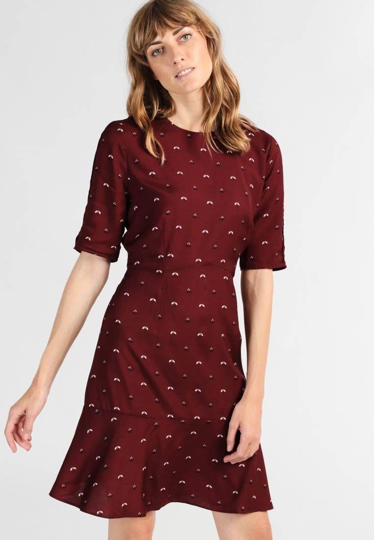 Hobbs Elle Summer Dress Burgundy Fit Tailored Outer Fabric Material 100 Viscose Our Model S Height Ou Classy Dress Summer Dresses Short Sleeve Dresses [ 1100 x 762 Pixel ]